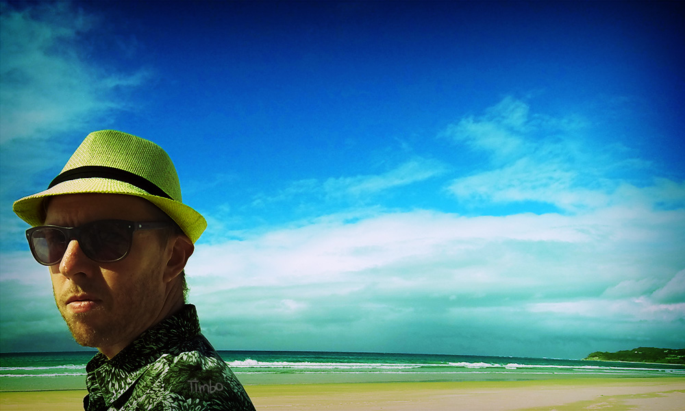 Self-portrait of Tim Horan, taken on North Stradbroke Island, Queensland.
