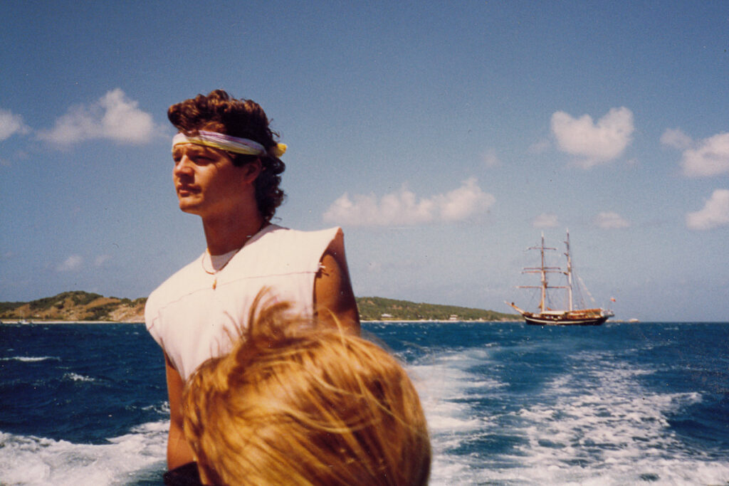 A crew member from The Eye of the Wind photographed off Lizard Island.