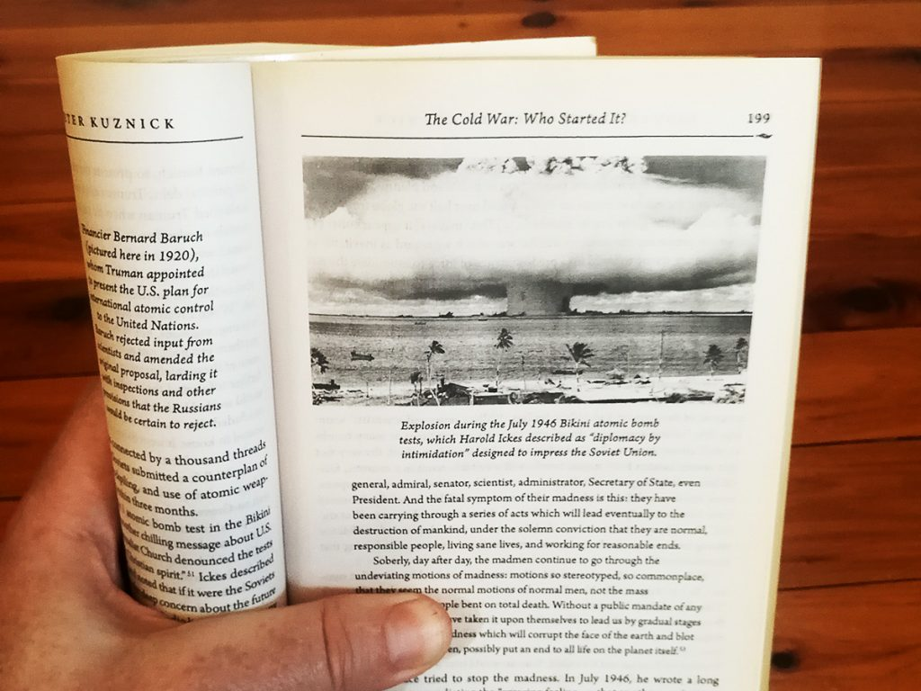 Page 199 of Tim Horan's personal copy of 'The Untold History of the United States' by Oliver Stone and Peter Kuznick.