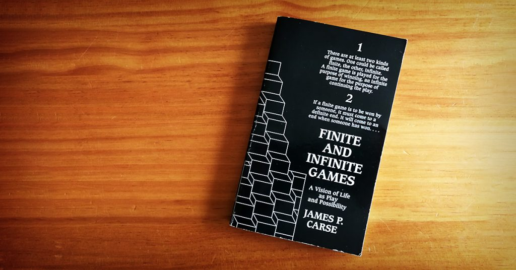 Tim Horan's copy of 'Finite and Infinite Games' by James P. Carse.